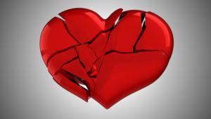 Трещины на красном сердце